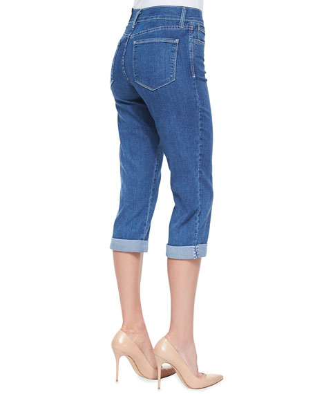 Delaney Cropped Rolled-Up Jeans