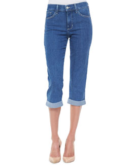 Not Your Daughter's Jeans Delaney Cropped Rolled-Up Jeans