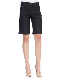 NYDJ Arya Relaxed Denim Shorts, Dark Enzyme