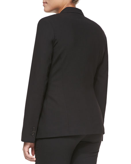 Bulca Two-Button Blazer, Black