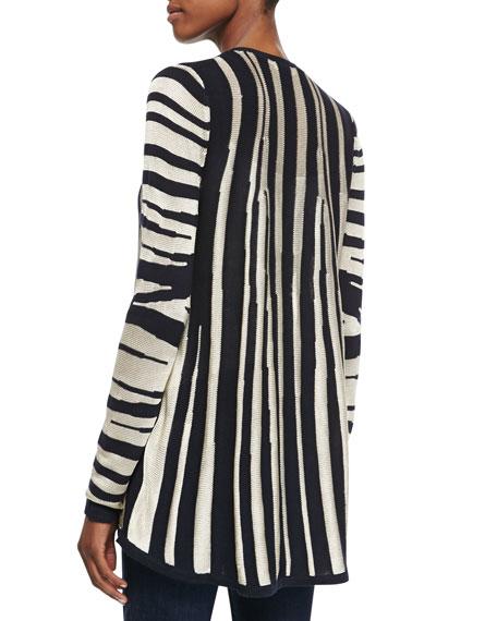 Zebra Zip-Front Cardigan