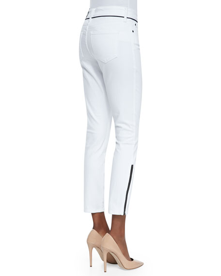 Kaelyn Fitted Ankle Jeans, Arctic White