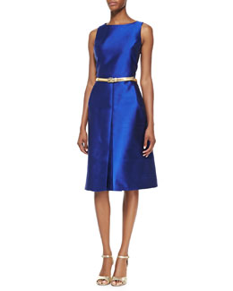 Michael Kors Shantung A-Line Dress