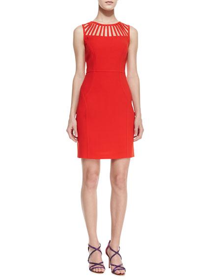 Sleeveless Cutout-Neck Dress