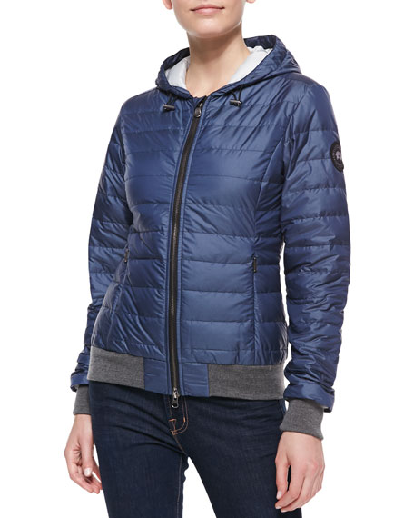 Sydney Hooded Puffer Jacket, Spirit Blue