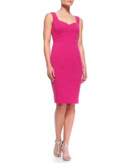 Laundry by Shelli Segal Sweetheart Neckline Crisscross Front Dress