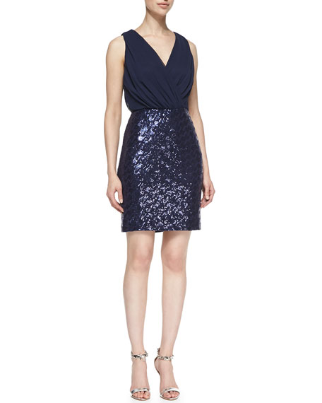 Sequined Skirt Cocktail Dress