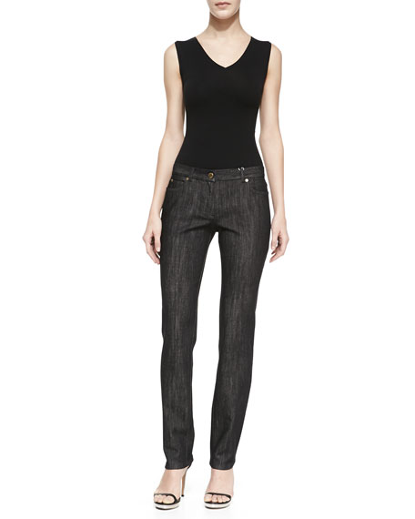 Stretch Twill Jeans, Black