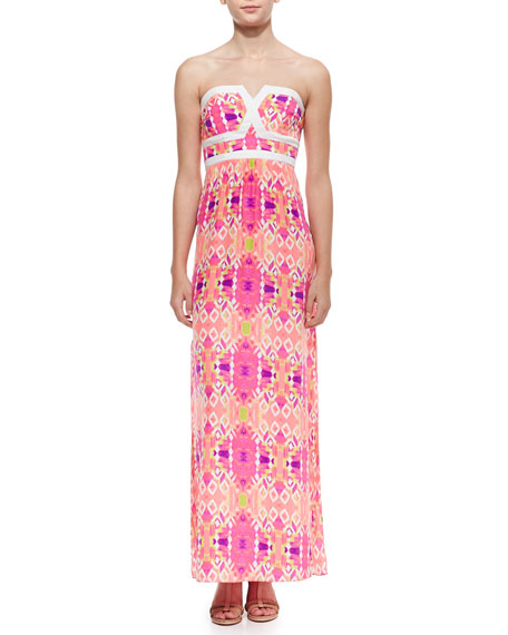 Valeria Solid-Trim Maxi Dress