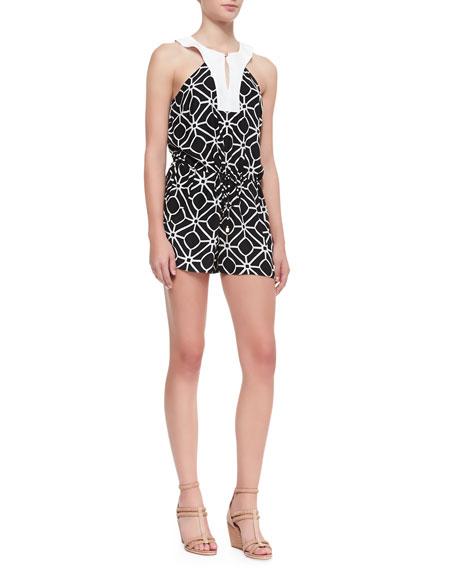 Sasha Printed Sleeveless Silk Jumpsuit