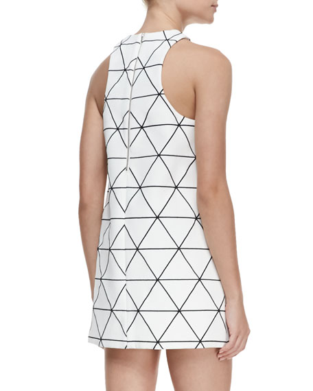 From Time Printed Racerback Dress