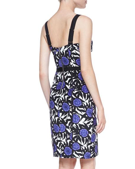 Clarissa Okina Floral-Print Sheath Dress