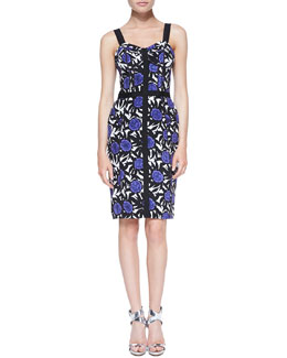 Rebecca Minkoff Clarissa Okina Floral-Print Sheath Dress