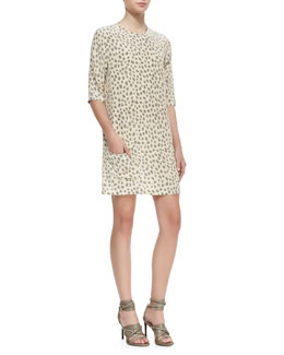 Equipment Aubrey Leopard-Print Shift Dress