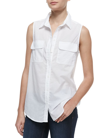Signature Sleeveless Slim Blouse
