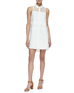 Addison Henie Sleeveless Paneled Shirtdress