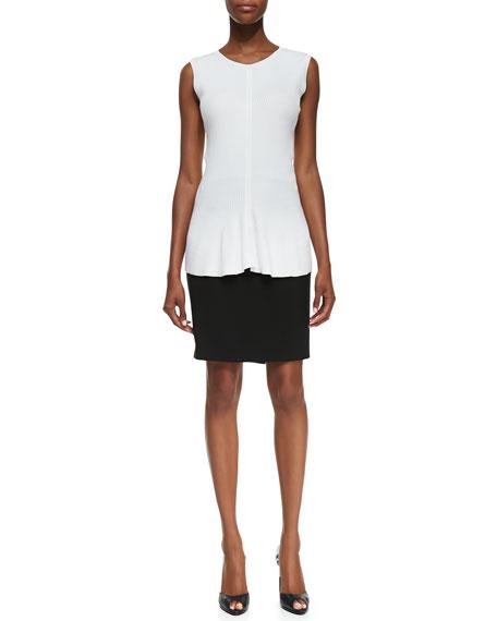 Zip-Pocket Slim Skirt