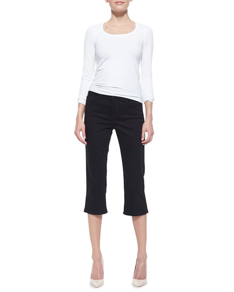 Hayden Cropped Side-Slit Pants, Women's