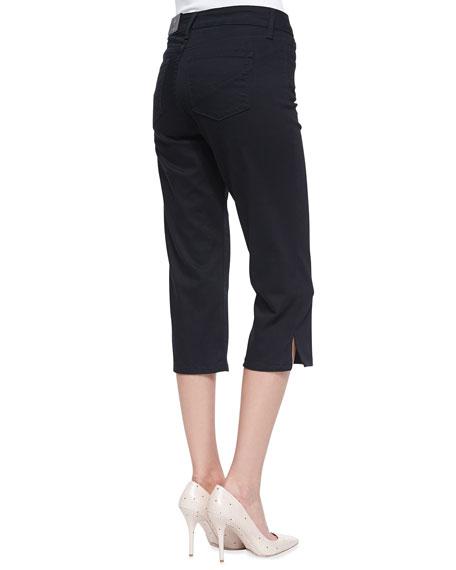 Hayden Cropped Side-Slit Pants, Women's