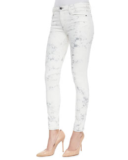 Joe's Jeans Jay Super Chic Skinny Ankle Jeans, Light Gray Tie Dye