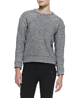 IRO Parker Boxy Textured Knit Sweater