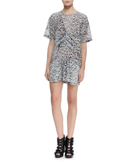IRO Carline Short-Sleeve Printed Dress