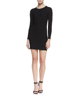 IRO Cheryne Long-Sleeve Fitted Jersey Dress