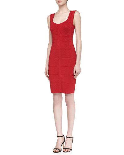 Laundry by Shelli Segal Sleeveless Metallic Knit Cocktail Dress