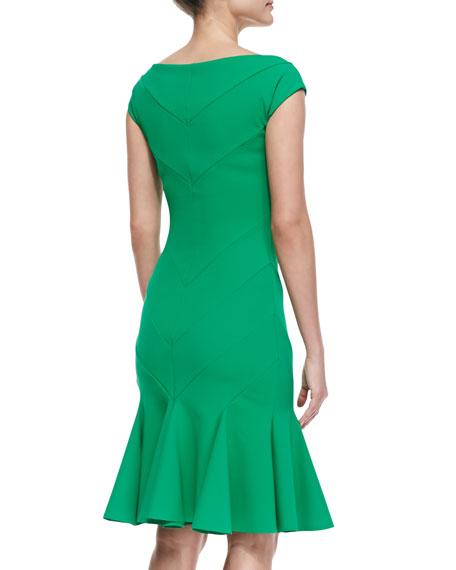 Margherita V-Neck Godet Cocktail Dress
