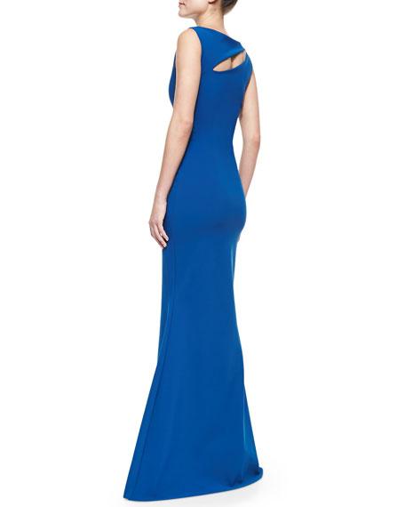 Sleeveless Angled Cutout Gown, Ottanio