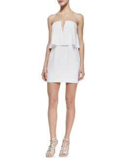 BCBGMAXAZRIA Kate Strapless Dress With Flounce Bodice