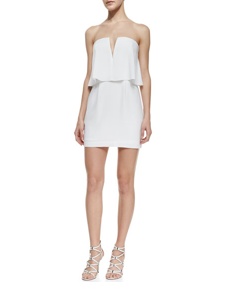 Kate Strapless Dress With Flounce Bodice