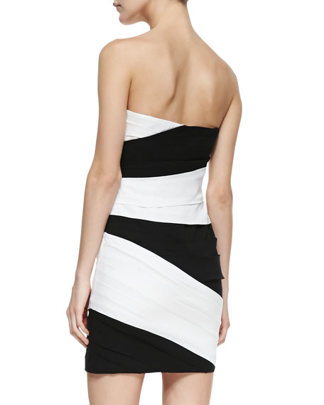 Kalea Two-Tone Strapless Dress
