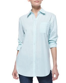 Neiman Marcus Oxford Fitted Shirt
