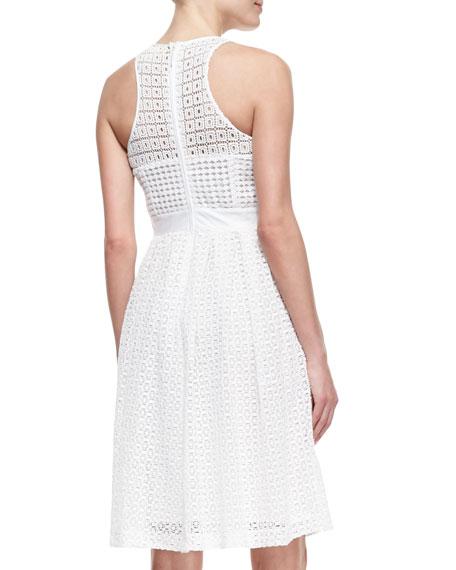 Geri Sleeveless Fit & Flare Lace Dress