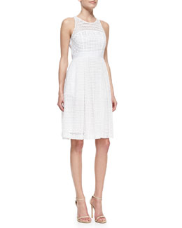 Catherine Malandrino Geri Sleeveless Fit & Flare Lace Dress
