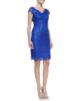 Laundry by Shelli Segal Sleeveless Venise Lace Dress
