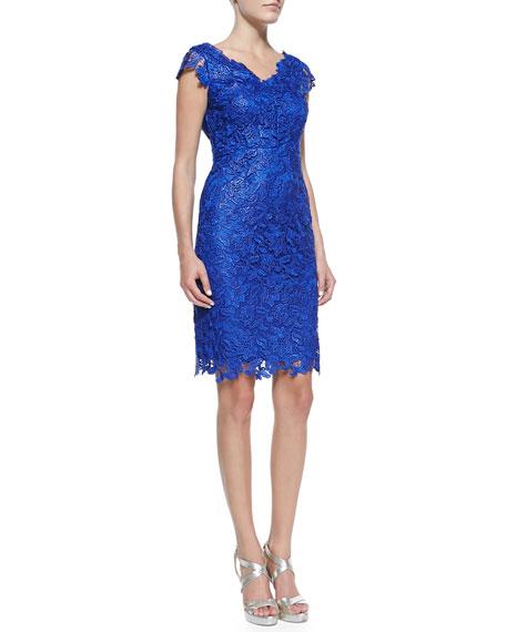Sleeveless Venise Lace Dress