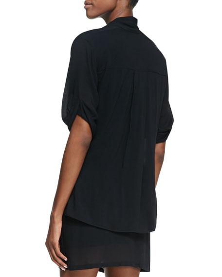 Draped Jersey Overlap Dress