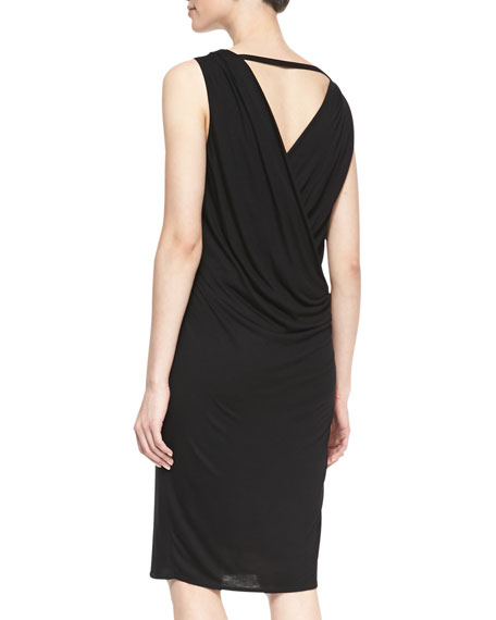 Scala Gathered Jersey Dress