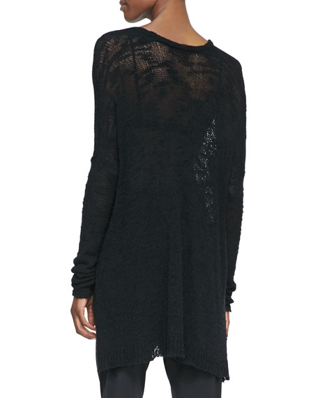 See-Through Knit Pullover Sweater