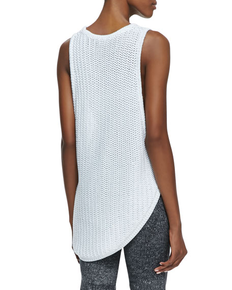 Corded Sleeveless Asymmetric Sweater Tank