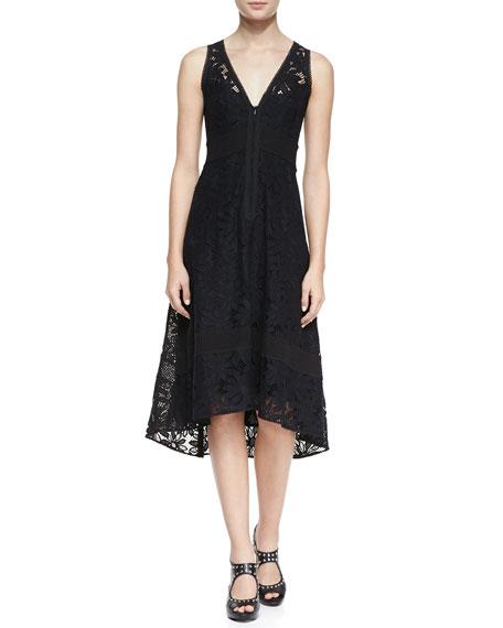 Flamenco Lace Arch-Hem Dress