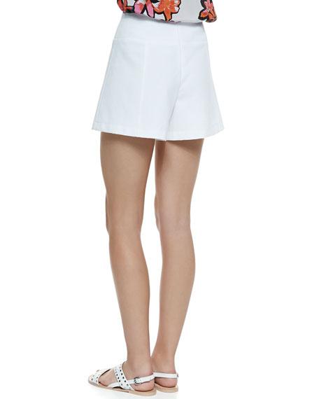 Hideaway Wide-Leg Pique Shorts