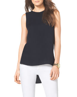 MICHAEL Michael Kors  High-Low Silk Top