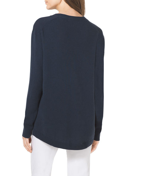 High-Low Cashmere Cardigan