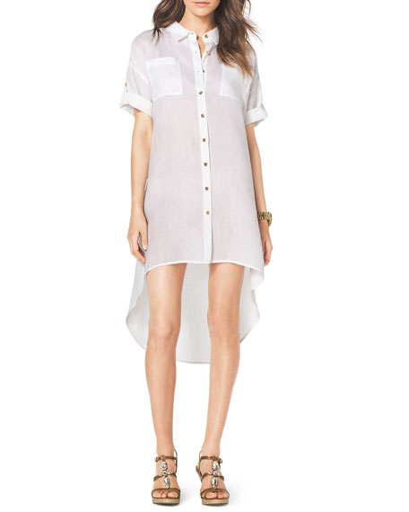 Easy High-Low Shirtdress