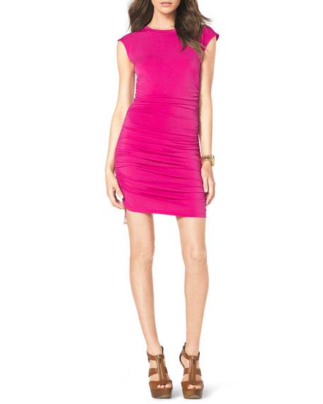 Drawstring-Side Ruched Dress