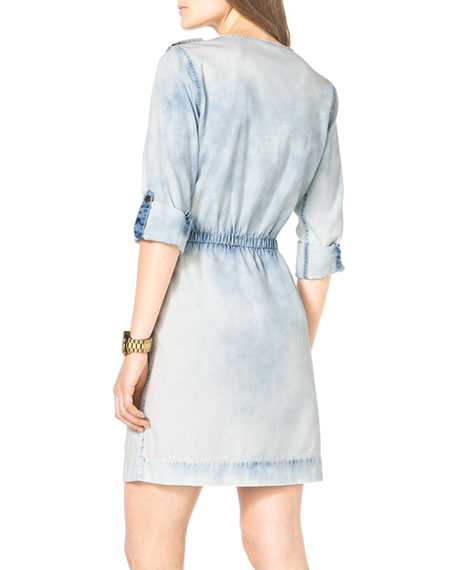 Bleached Chambray Shirtdress