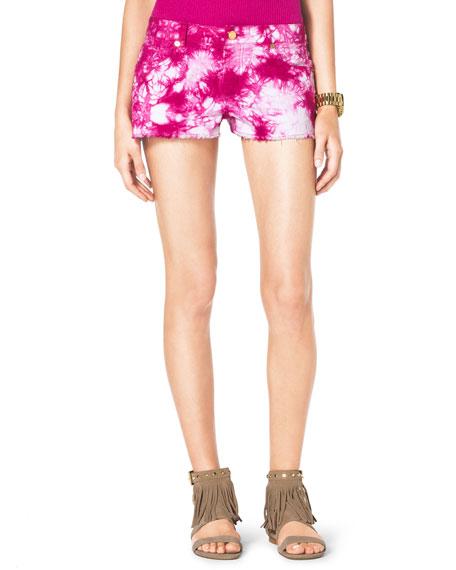 Tie-Dye Cutoff Shorts